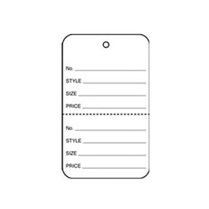 """1 1/4"""" White, UnStrung Apparel Colored Tags"""