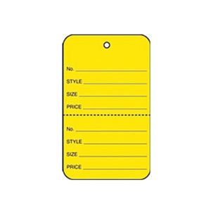 """1 1/4"""" Yellow, UnStrung Apparel Colored Tags"""