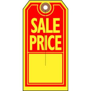 "SALE PRICE Tag, 2-5/8"" x 5-1/4"""