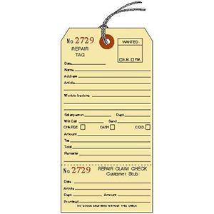 Repair 1 Side, 1 Ticket, Manila Service Tags