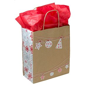 "Medium Shopping Bag, Ornament Sway, 8"" x 4.75"" x 10.25"" (cub)"