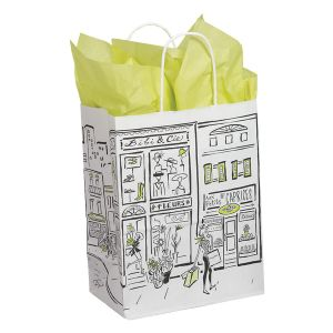 "Medium Shopping Bag, City Collection, 8"" x 4.75"" x 10.25"" (cub)"
