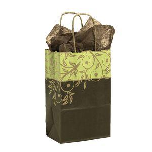 "Small Shopping Bag, Antigua, 5.5"" x 3.25"" x 8.375"" (gem)"