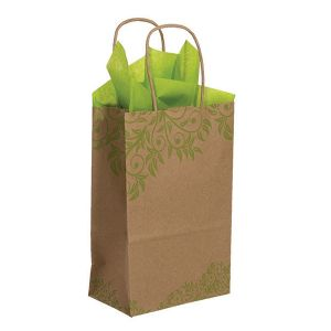 "Small Shopping Bag, Lantana, 5.5"" x 3.25"" x 8.375"" (gem)"