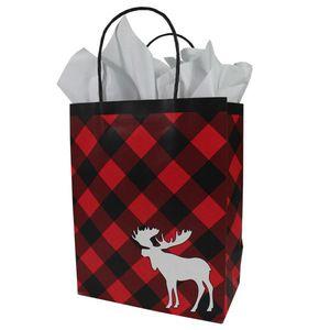 "Medium Shopping Bag, Chalet Moose Collection, 8"" x 4-3/4"" x 10-1/4"""