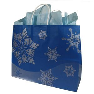 """Large Shopping Bag, Royal Frost Collection, 16"""" x 6"""" x 13"""""""