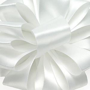 White, Double Faced Satin Ribbon