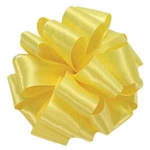 Lemon, Double Faced Satin Ribbon