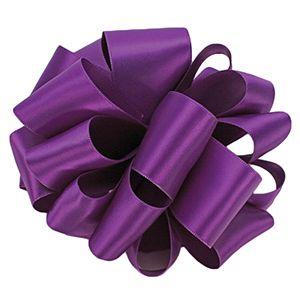 Purple, Double Faced Satin Ribbon
