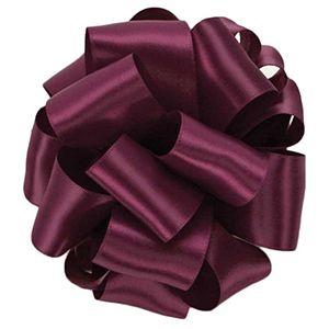 Wine, Double Faced Satin Ribbon