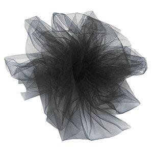 Black, Tulle Rolls