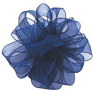 Navy, Wired Encore Ribbon