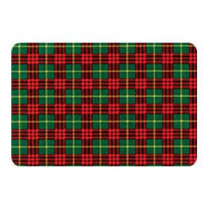 Holiday Gift Enclosure Card, Traditional Plaid