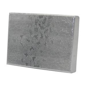 "Silver Foil Jewelry Boxes, 2"" x 1-1/2"" x 1"""