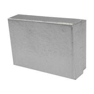"Silver Foil Jewelry Boxes, 2"" x 2"" x 1"""
