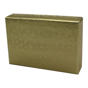 "Gold Foil Jewelry Boxes, 2"" x 2"" x 1"""