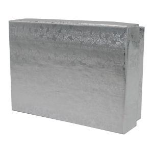 "Silver Foil Jewelry Boxes, 3"" x 2-1/8"" x 1"""