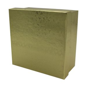 "Gold Foil Jewelry Boxes, 3"" x 3"" x 2"""