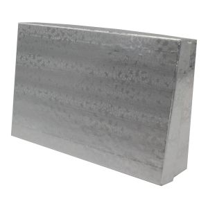 "Silver Foil Jewelry Boxes, 5"" x 3"" x 1"""