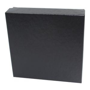 "Black Embossed Jewelry Boxes, 3"" x 3"" x 1"""