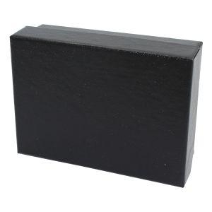 "Black Embossed Jewelry Boxes, 3"" x 2"" x 1"""