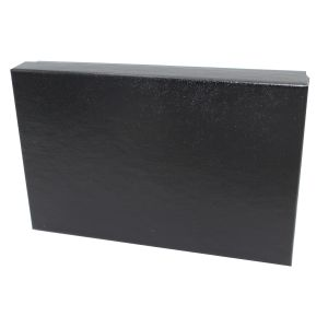 "Black Embossed Jewelry Boxes, 5"" x 3"" x 1"""