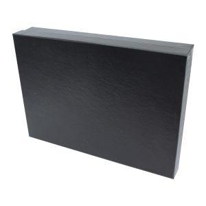 "Black Embossed Jewelry Boxes, 7"" x 5"" x 1"""