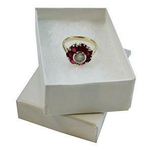 "White Swirl Jewelry Boxes, 2-7/16"" x 1-5/8"" x 13/16"""