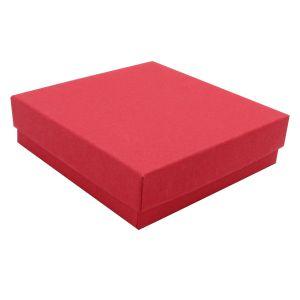 """Red Kraft Jewelry Boxes, 3-1/2"""" x 3-1/2"""" x 7/8"""""""