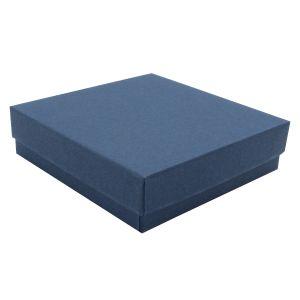 """Navy Blue Kraft Jewelry Boxes, 3-1/2"""" x 3-1/2"""" x 7/8"""""""