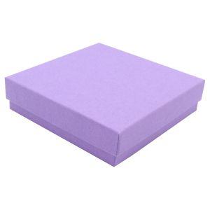 "Purple Kraft Jewelry Boxes, 3-1/2"" x 3-1/2"" x 7/8"""