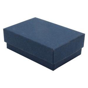 """Navy Blue Kraft Jewelry Boxes, 2-7/16"""" x 1-5/8"""" x 13/16"""""""