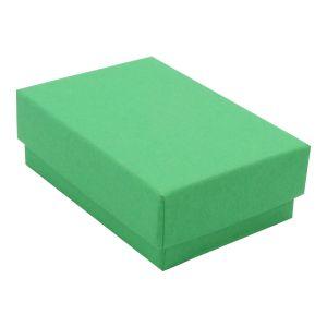 "Green Kraft Jewelry Boxes, 2-7/16"" x 1-5/8"" x 13/16"""