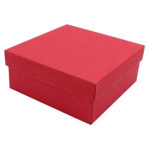 """Red Kraft Jewelry Boxes, 3-1/2"""" x 3-1/2"""" x 1-1/2"""""""