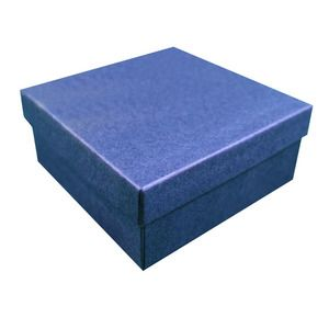 """Navy Blue Kraft Jewelry Boxes, 3-1/2"""" x 3-1/2"""" x 1-1/2"""""""