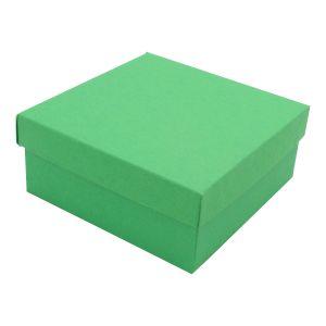 "Green Kraft Jewelry Boxes, 3-1/2"" x 3-1/2"" x 1-1/2"""