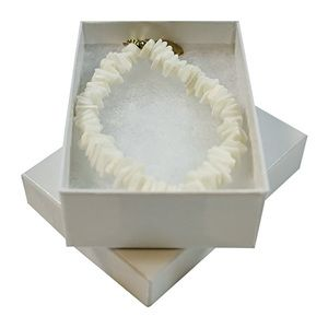 "White Swirl Jewelry Boxes, 3"" x 2-1/8"" x 1"""