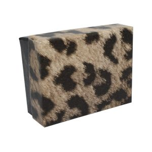 """Leopard Patterned Jewelry Boxes, 2"""" x 2"""" x 1"""""""