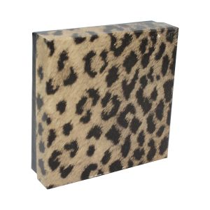 """Leopard Patterned Jewelry Boxes, 3"""" x 3"""" x 1"""""""