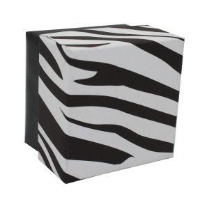 "Zebra Patterned Jewelry Boxes, 2"" x 2"" x 1"""