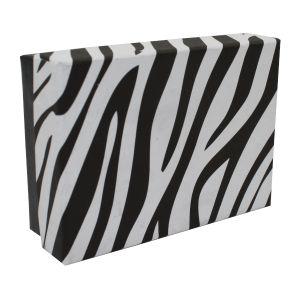"Zebra Patterned Jewelry Boxes, 3"" x 2"" x 1"""