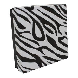 "Zebra Patterned Jewelry Boxes, 3"" x 3"" x 1.5"""