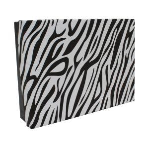 "Zebra Patterned Jewelry Boxes, 7"" x 5"" x 1"""