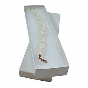 "White Swirl Jewelry Boxes, 8"" x 2"" x 7/8"""