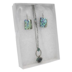 """White View Top Jewelry Boxes, 7"""" x 5"""" x 1"""""""
