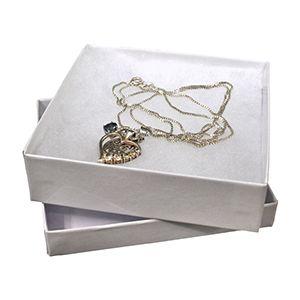 "White Jewelry Box, 3.5"" x 3.5"" x 1"""