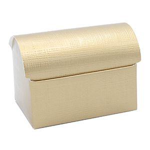 Tresure Chest, Matte Gold Linen Gift Box