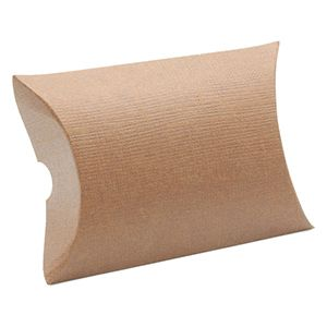 """Pillow Pack, Chocolate Linen Gift Box, 3-3/8"""" x 3-3/8"""" x 1-1/8"""""""