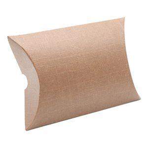 """Pillow Pack, Chocolate Linen Gift Box, 6-11/16"""" x 5-1/8"""" x 1.5"""""""