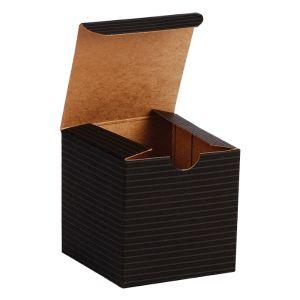 "Black Grove, Kraft Tuckit Gift Boxes, 3"" x 3"" x 3"""
